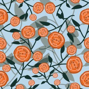 AbstractRose_OrangeTones-01